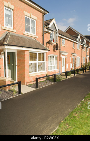 Terraced houses - Stock Photo