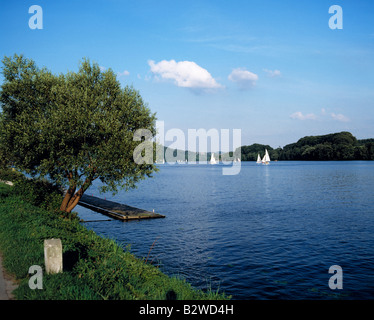 Baldeneysee in Essen, Ruhrgebiet, NRW - Stock Photo