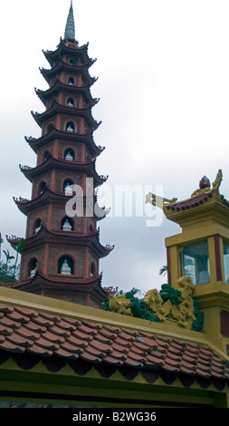 Tran Quoc Pagoda Hanoi Vietnam - Stock Photo