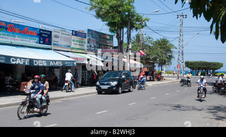 Street leading to beach Nha Trang resort Vietnam - Stock Photo