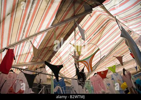Market Malcesine on Lake Garda in Verona Province Veneto Region Italy - Stock Photo