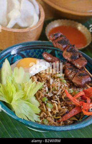 Nasi Goreng Fried Rice Indonesia SE Asia Food - Stock Photo