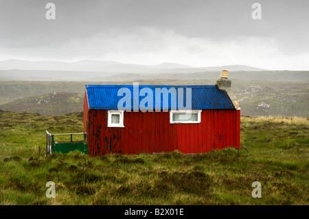 Shieling near Achmore, Isle of Lewis, Hebrides, Scotland, UK - Stock Photo