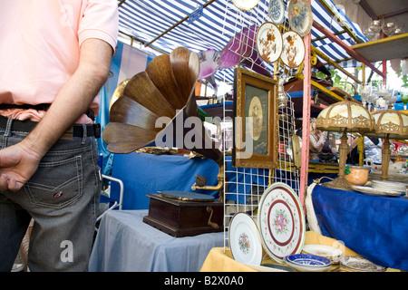 Antiques Market, San Telmo, Buenos Aires, Argentina - Stock Photo