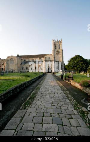 Christchurch Priory Dorset England UK - Stock Photo