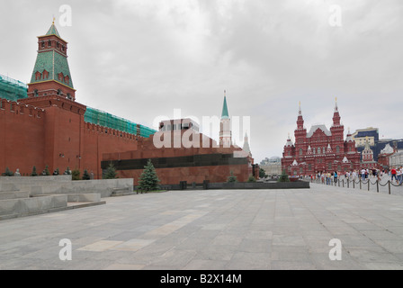 Lenin tomb Moscow Red Square - Stock Photo