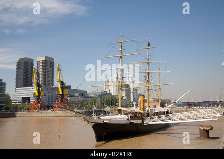 Museum Ship called Corbeta in Puerto Madero, Buenos Aires, Argentina - Stock Photo