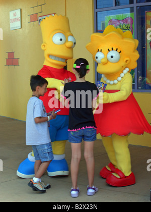 Simpsons characters - Stock Photo