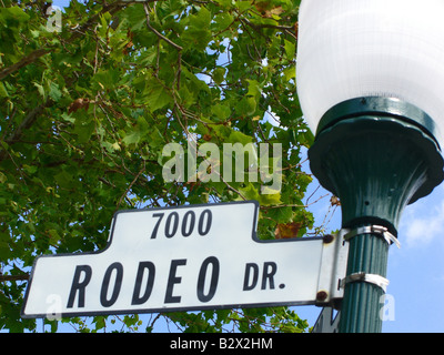 Rodeo Drive Street Sign Post Beverly Hills Los Angeles