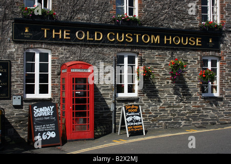 The Old Custom House in Padstow, Cornwall, England - Stock Photo
