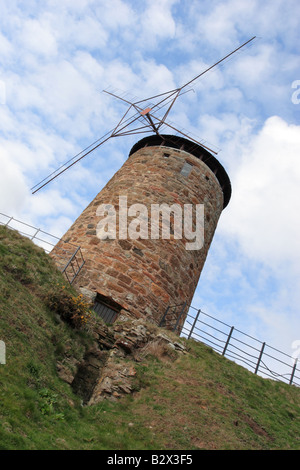 Windmill in the picturesque coastal village of St.Monans in the East Neuk of Fife, Scotland. - Stock Photo