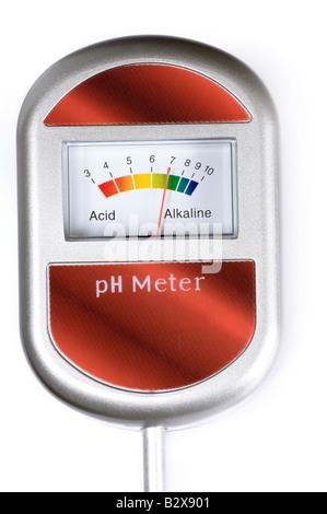 Soil PH tester meter - Stock Photo