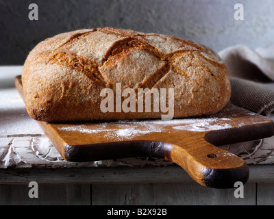 wholemeal bread loaf - Stock Photo