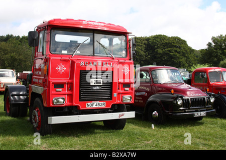 A vintage 1977-1978 Scammell lorry at the Cromford Steam Engine Rally 2008. - Stock Photo
