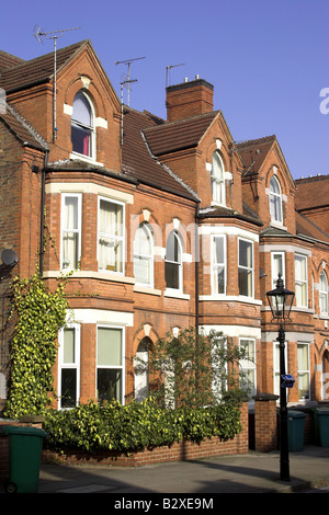Victorian bay fronted houses in the Park Estate, Nottingham, England, U.K. - Stock Photo