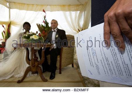 africa,mauritius,le morne, wedding in dinarobin hotel - Stock Photo