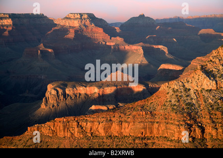 Mather Point of the Grand Canyon- sunset - Stock Photo