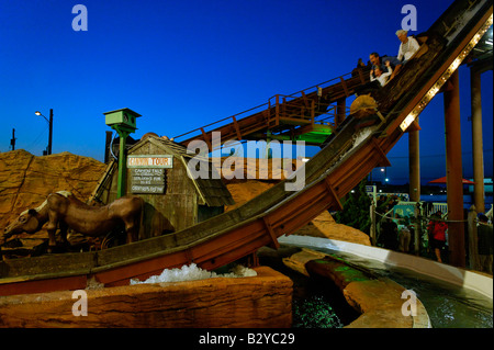 Amusement ride at the boardwalk Ocean City New Jersey USA - Stock Photo