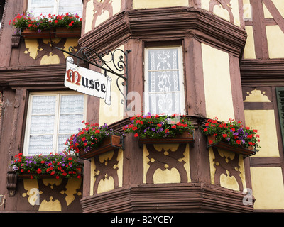FOLK MUSEUM HOUSED IN TIMBER-FRAMED RENAISSANCE BUILDING MARMOUTIER ALSACE FRANCE - Stock Photo