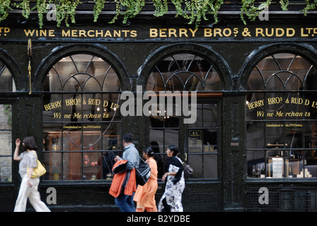Berry Bros and Rudd fine wine merchants in St James's Street, St James's, London, England - Stock Photo