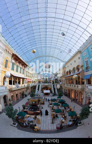 United Arab Emirates Dubai Jumeirah Mercato Mall interior - Stock Photo