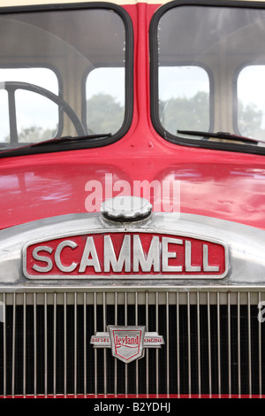 A vintage Scammell lorry at the Cromford Steam Engine Rally 2008. - Stock Photo