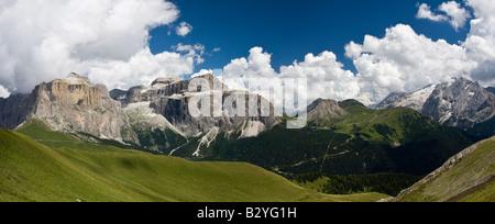 Sella Group, Dolomites, Italy - Stock Photo