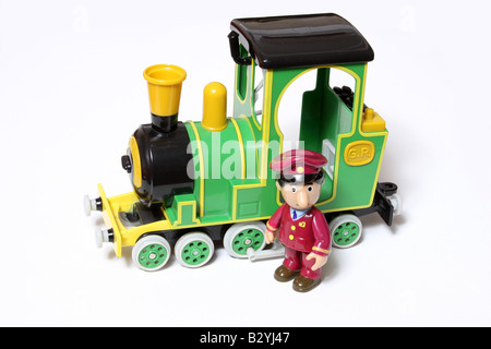 A toy man and train. - Stock Photo