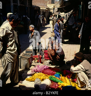Khyber Pass Pakistan Street Scene North west Frontier Silk Road - Stock Photo