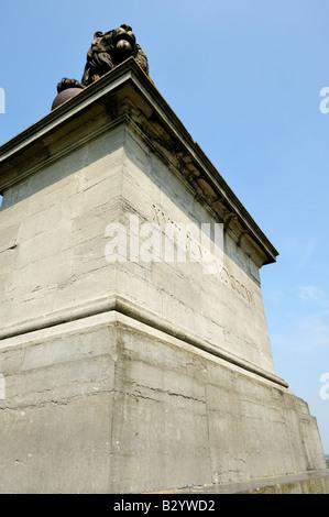 Lion's Mound marking the site of the Battle of Waterloo, 18 June 1815, Waterloo, Belgium - Stock Photo