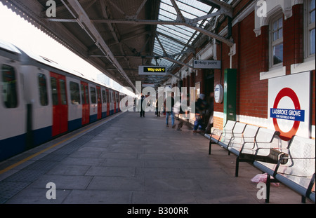 Ladbroke Grove tube station, London, UK - Stock Photo