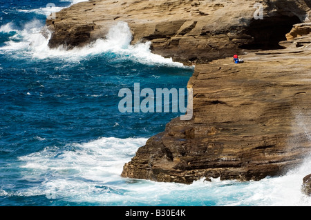 'Far from the crashing waves' - Stock Photo