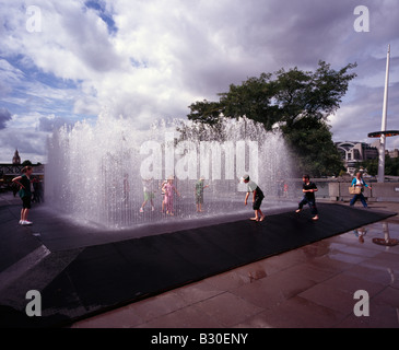 Boys playing in water fountain stock photo royalty free for 30 banks terrace swampscott ma