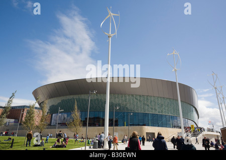Kings Parade, Liverpool, Merseyside, England, UK, Britain. Modern Echo Arena and Convention centre building on the - Stock Photo