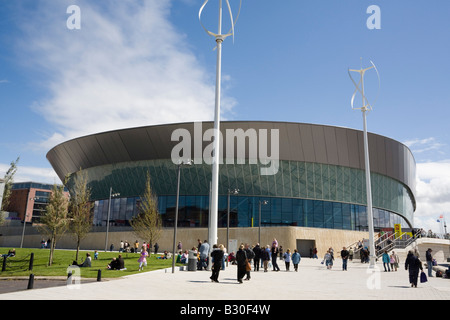Kings Parade, Liverpool, Merseyside, England, UK, Europe. Modern Echo Arena and Convention centre building on the - Stock Photo