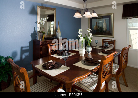 Middle Class Single Family Home Interior Dining Room Table