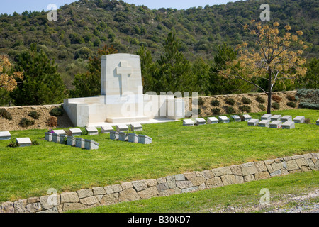 New Zealand No 2 Outpost Cemetery of the Anzac Martyrs Gallipoli Canakkale Turkey - Stock Photo