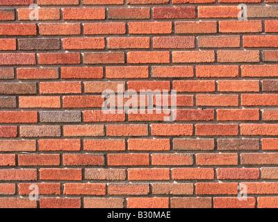 Red Brick wall Background bricks - Stock Photo