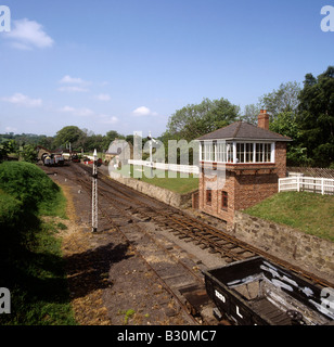 UK England County Durham Beamish Open Air Museum railway - Stock Photo