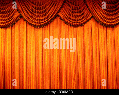 Egyptian-blue-pole-swag curtain - Stock Photo