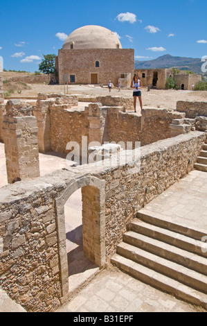 Rethymno, Crete, Greece. Fortress (Phrourion or Fortezza - 16thC) Domed Mosque - Stock Photo