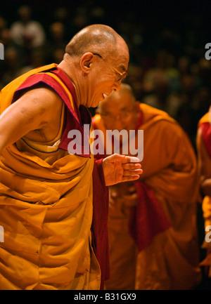 The14th DALAI LAMA teaches ATISHAS LAMP in October 2007 sponsored by KUMBUM CHAMTSE LING the TIBETAN CULTURAL CENTER - Stock Photo