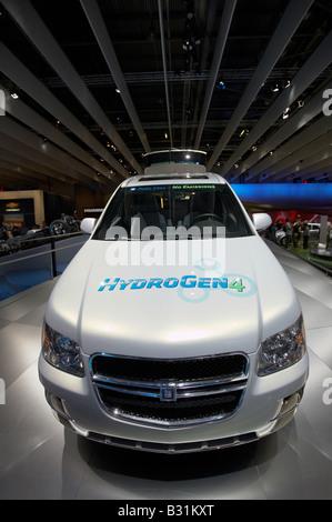 GM General Motors Chevy Equinox Fuel Cell SUV new hybrid off road car model vehicle at British International Motor - Stock Photo