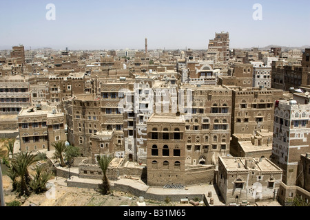 The ancient capital city of Yemen Sanaa - Stock Photo