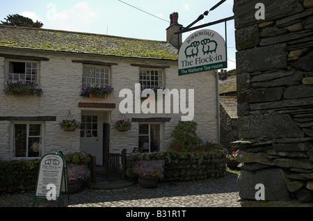 Flock-in walkers tearoom at Yew Tree Farm Rosthwaite Borrowdale Lake District Cumbria - Stock Photo