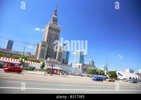Warsaw, Warszawa, Poland, Palace of Culture and Science, Palac Kultury i Nauki - Stock Photo