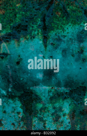 Dark green textured abstract background with scratch marks - Stock Photo