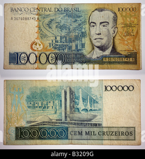 Brazilian Currency 100 Banco Central Do Brasil Stock Photo: 19104103 - Alamy