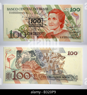 Brazilian Currency 100 Banco Central Do Brasil 200 Stock Photo: 19098809 - Alamy