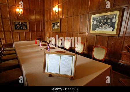 The meeting room of the Yalta Conference, Livadia, Ukraine - Stock Photo